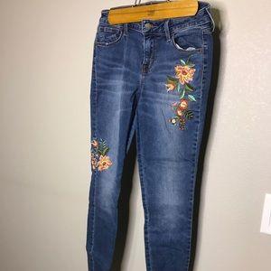 Old Navy, Rockstar Floral jean